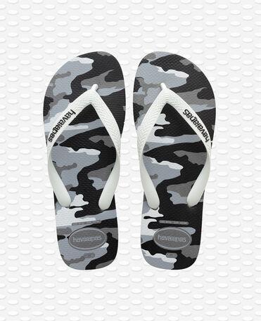 Havaianas Top Camu Steel - Chinelos - aço cinza / branco - Homem