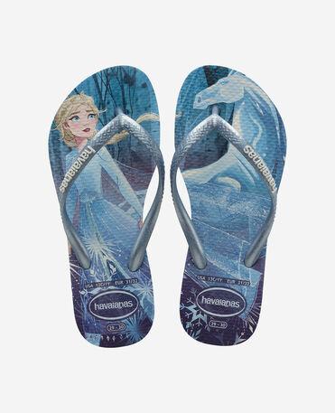 Havaianas Kids Slim Frozen - flip-flops - WHITE/SNOWFLAKES - niño