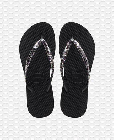 Havaianas Slim Flatform Glitter - flip-flops - BLACK - mujer