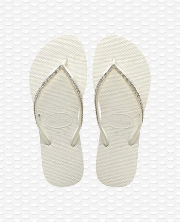 Havaianas Slim Crystal Mesh SW II - Tongs - Blanc - Femme