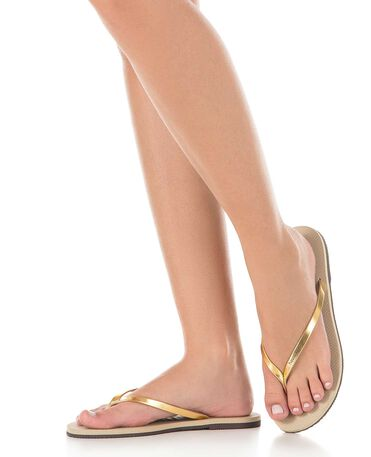 Havaianas You Metallic - Sand Grey / Light Golden - Flip Flops - Women