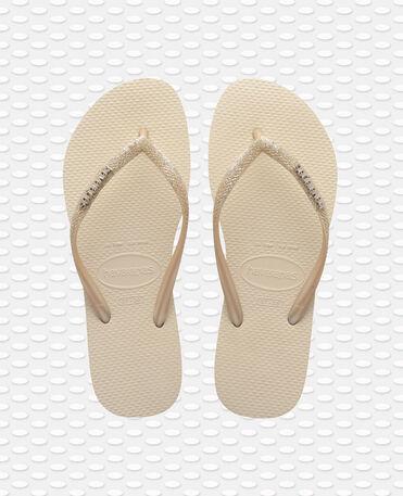 Havaianas Slim Glitter II - flip-flops - BEIGE - mujer