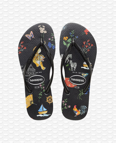 Havaianas slim Animal Print - Black/Red Flip flops Women