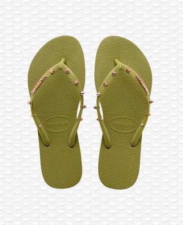 Havaianas Slim Hardware - Tongs - Vert Camo - Femme
