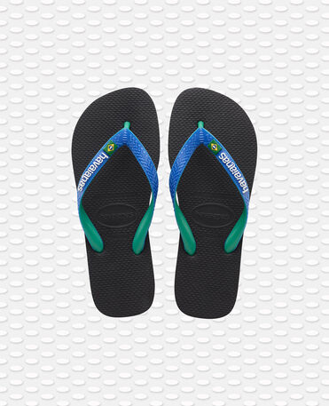 Havaianas Brasil Mix - flip-flops - BLACK/BLUE STAR - unisex