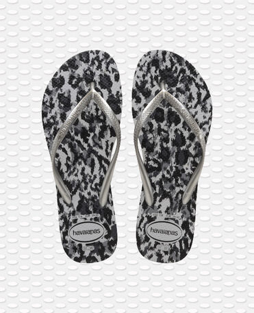 Havaianas Slim Animals - flip-flops - GREY SILVER/ICE GREY - female