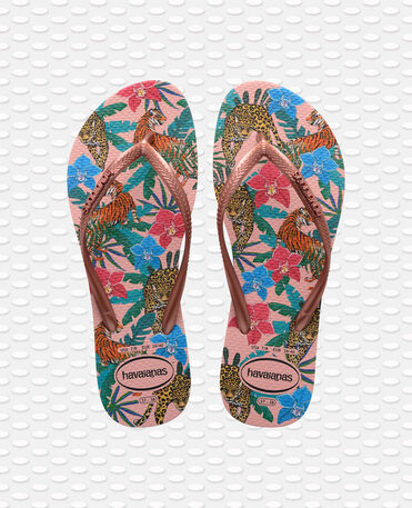 Havaianas Slim Tropical - flip-flops - BALLET ROSE/PINK RETRO METALLIC - mujer