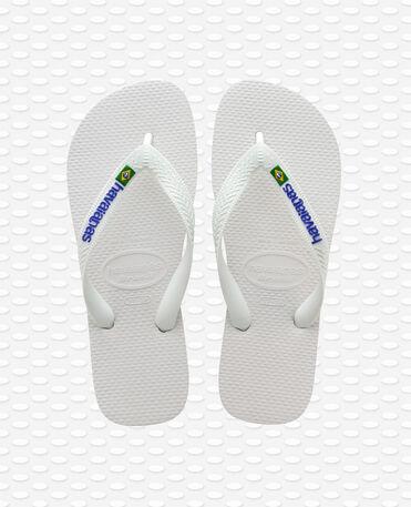 Havaianas Brasil Logo - Tongs - blanc