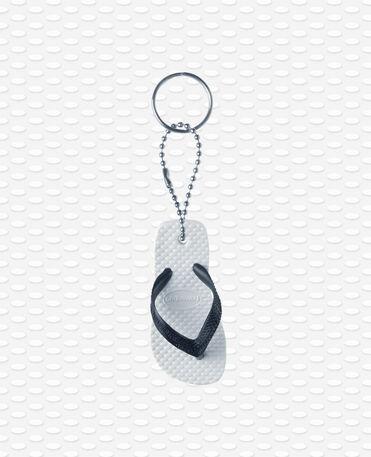 Havaianas Keyring - Porte clés flip flop - Blanc/noir