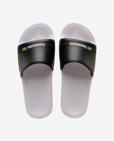 Havaianas Slide Brasil - flip-flops - WHITE/BLACK - female