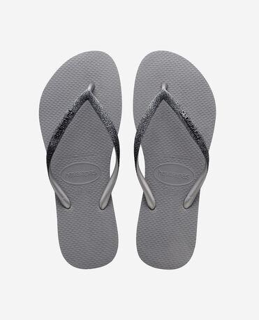 Havaianas Slim Sparkle II - flip-flops - STEEL GREY - mujer