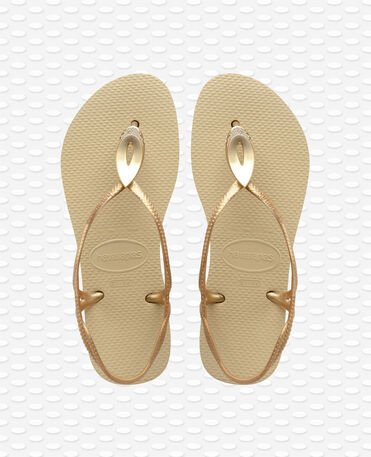 Havaianas Luna Special - Sand grey/light golden - Sandals - Women