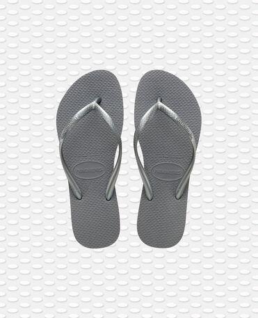 Havaianas Slim - flip-flops - STEEL GREY - mujer