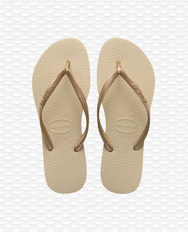 Havaianas Slim - Sand Grey/Light Golden - Flip Flops - Women