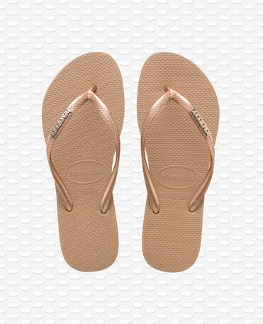 Havaianas Slim Logo Metallic - Rose Gold / Rose Gold - Flip Flops - Women