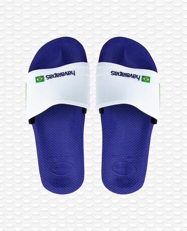 Havaianas Slide Brasil - Marine blue/white - Flip flops - Men