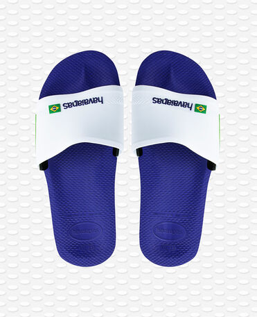 Havaianas Slide Brasil - Flip Flops - marineblau / weiß - Herren