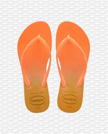 Havaianas Slim Gradient - flip-flops - WHITE/FLUORESCENT CONFETI - mujer