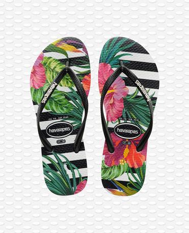 Havaianas Slim Tropical Floral - Black / Black / Imperial Palace - Flip Flops - Women