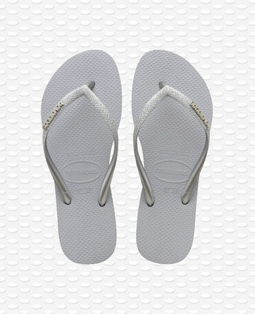 Havaianas Slim Glitter - Chanclas Grises Mujer
