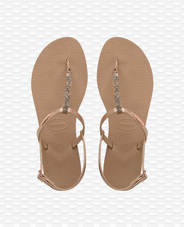 Havaianas You Riviera Crystal - Rose Gold - Flip Flops - Women