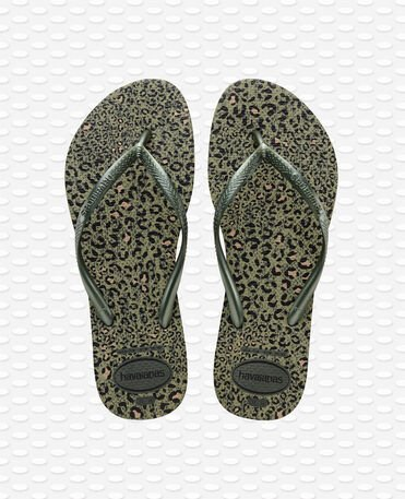 Havaianas slim animals - Olive Green Metallic - Flip Flops - Women
