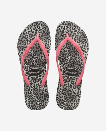 Havaianas Slim Leopard - flip-flops - BLACK - mujer