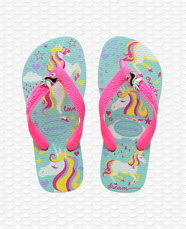 Havaianas Kids Fantasy - Tongs - bleu glace / rose vif - Enfants