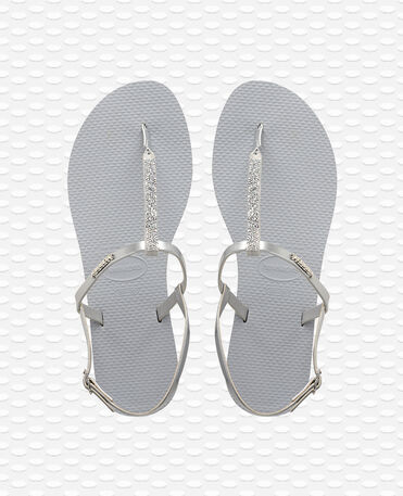 Havaianas You Riviera Crystal - Steel Grey / Steel Grey - Flip Flops - Women