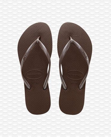 Havaianas Slim - Dark Brown - Flip Flops - Women