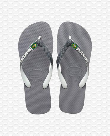 Havaianas Brasil Mix - Steel grey/white/white - Flip flops