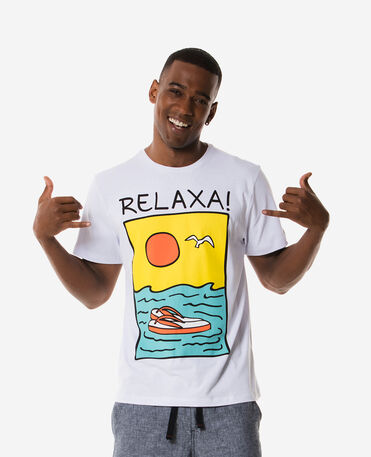 "Havaianas T-Shirt ""Relaxa"" - T-shirts man - WHITE"