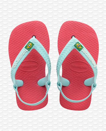 Havaianas Baby Brasil Logo II - Chinelos - Flamingo - Criança