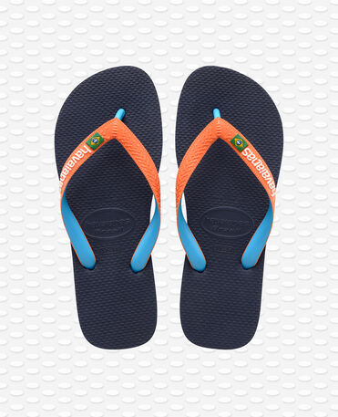 Havaianas Brasil Mix - Infradito - Navy / Neon orange