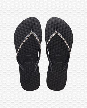 Havaianas Slim Crystal Mesh SW II - Black - Flip Flops - Women