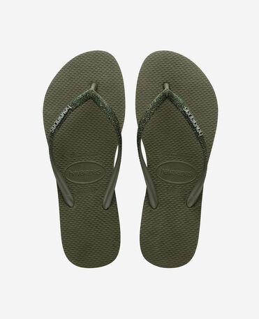 Havaianas Slim Glitter II - flip-flops - GREEN OLIVE - mujer