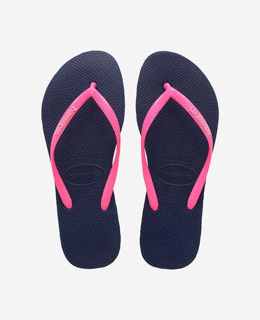 Havaianas Slim Logo - flip-flops - MARINE/WONDER F - unisex