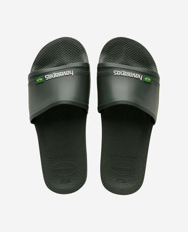 Havaianas Slide Brasil - flip-flops - GREEN OLIVE - unisex