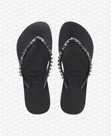 Havaianas Slim Rock Mesh - Black - Flip Flops - Women