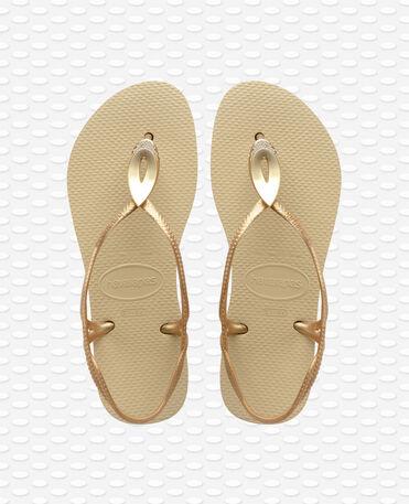 Havaianas Luna Special - Sand grey/light golden - Sandals - Women