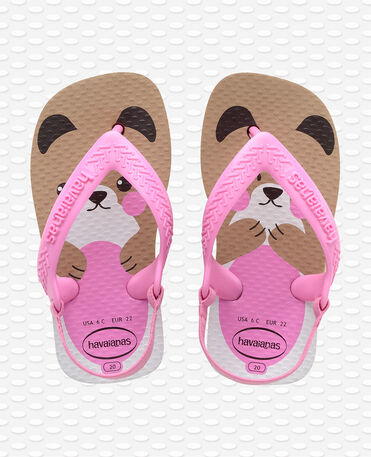 Havaianas Baby Pets II - Tongs - or rose - Enfants