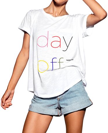 "HAVAIANAS-T-SHIRT ""DAY OFF"""