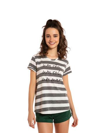 "Gestreiftes Havaianas-T-Shirt ""Um Ceu"""