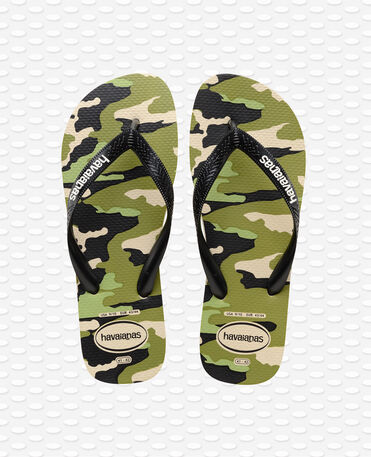 Havaianas Top Camu Steel - Beige/black - Flip flops - Men