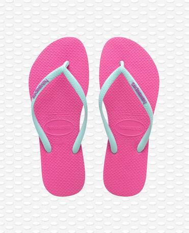 Havaianas Slim Logo - Hollywood Roseice Blue - Flip Flops - Women