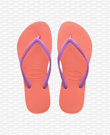 Havaianas Slim Logo - Orange Cyber - Flip Flops - Women
