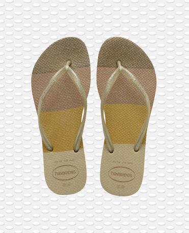 Havaianas Slim Palette Glow - flip-flops - SAND GREY - mujer
