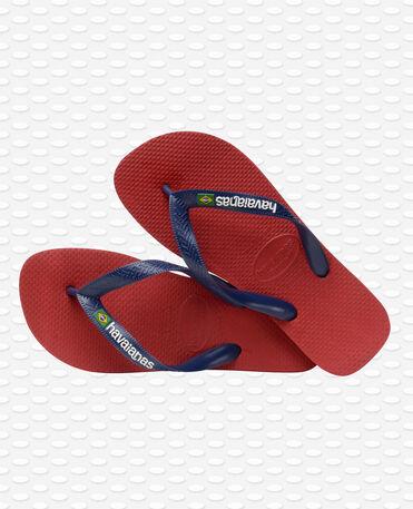 Havaianas Brasil Logo - Chanclas - Roja