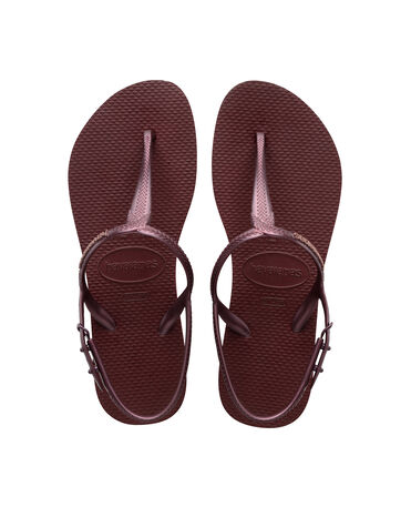 Havaianas Twist - beach sandals - GRAPE WINE - mujer