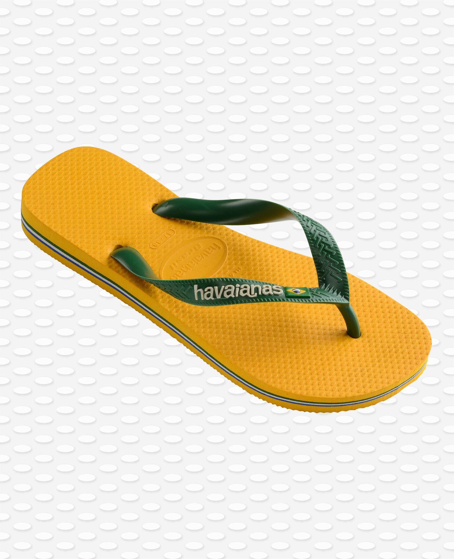 havaianas green yellow